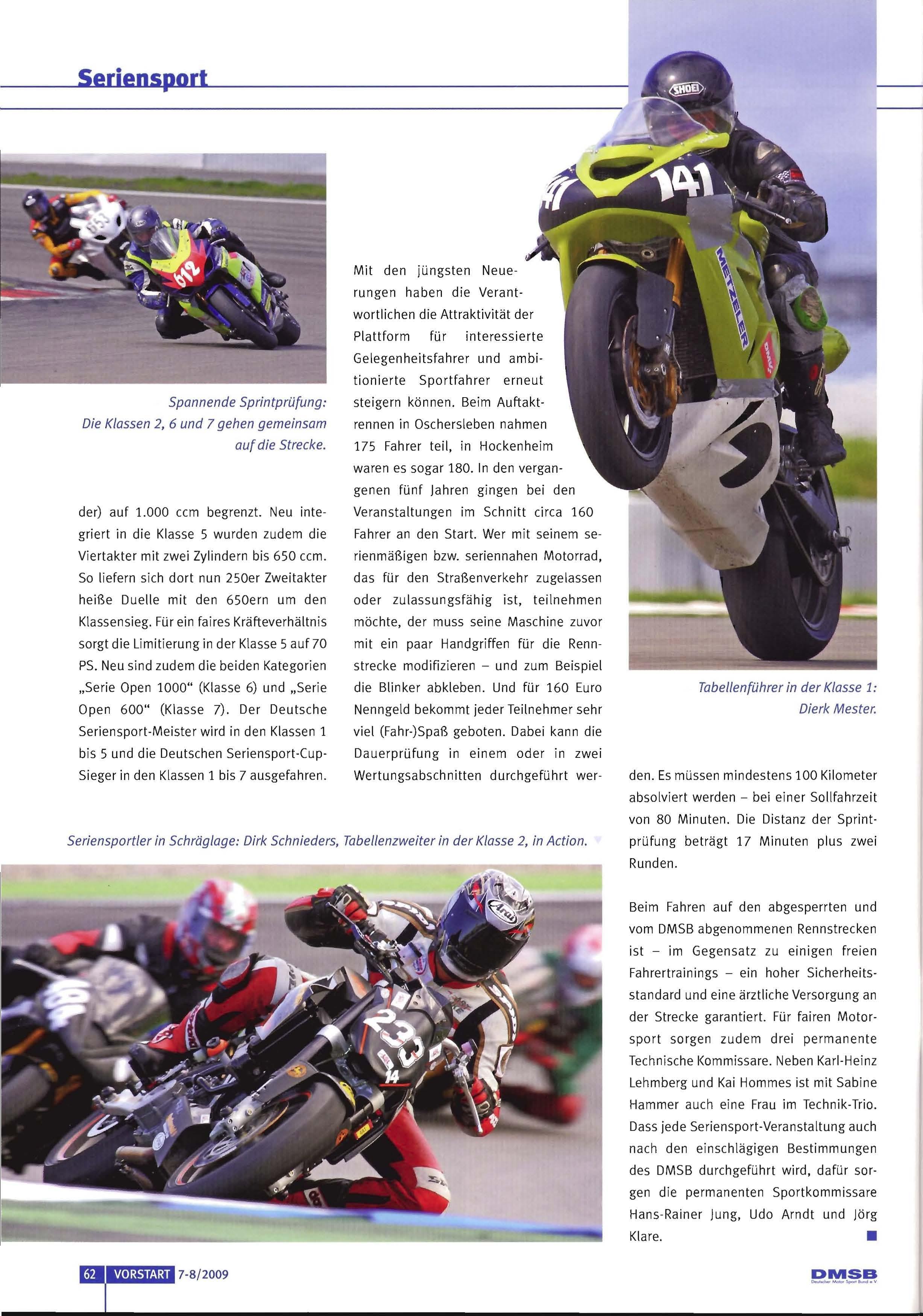 prüfung im motorradsport